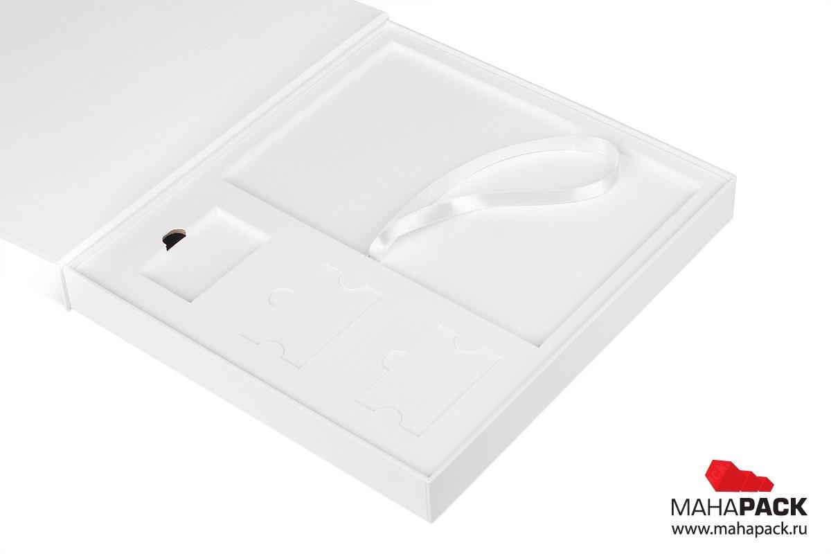 подарочная упаковка для флешек и буклета с диском