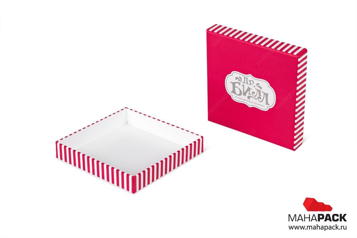 современная упаковка с крышкой для конфет
