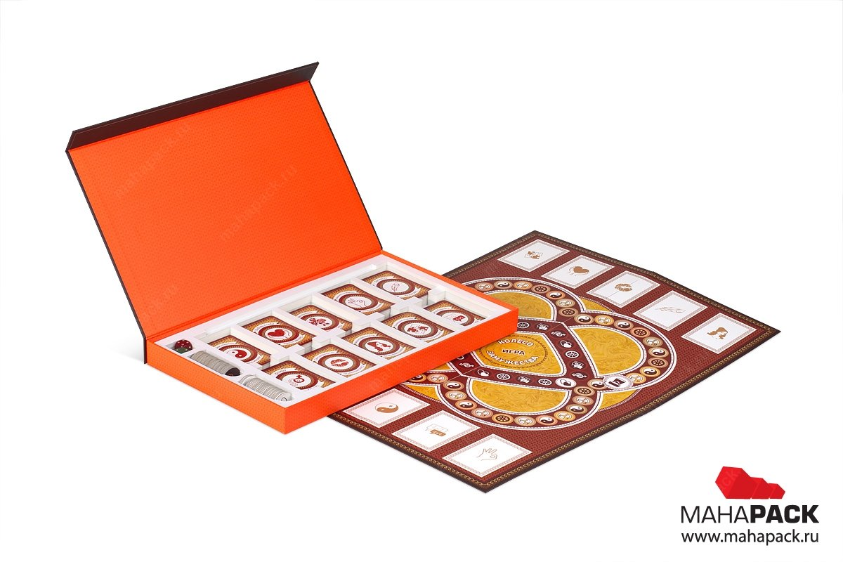 упаковка на заказ для настольной игры - разработка дизайна и производство