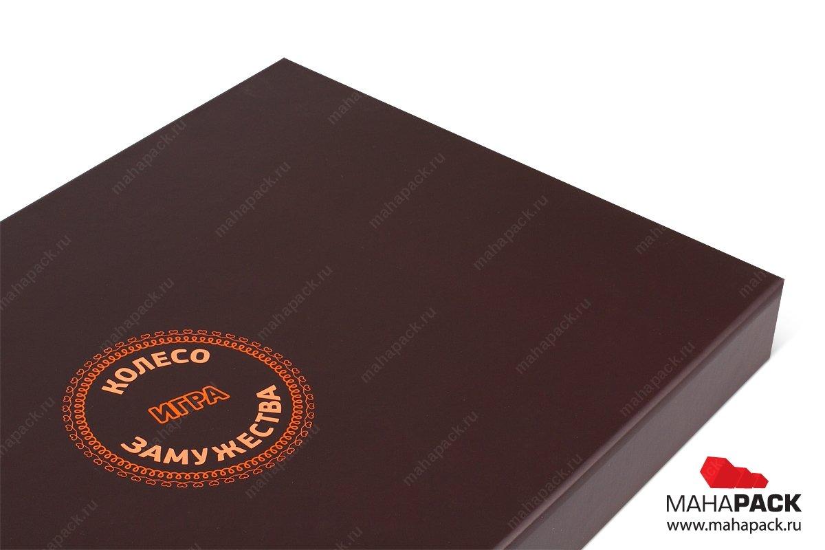 подарочная упаковка для настольной игры - коробка на магните