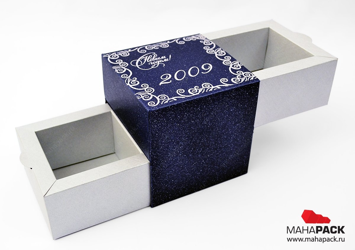 Упаковка-слайдер с выдвижными ящиками