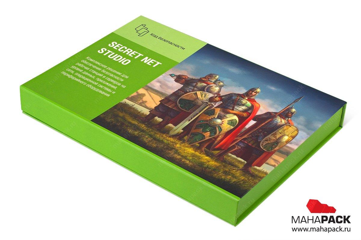 подарочная упаковка с логотипом для диска и буклета