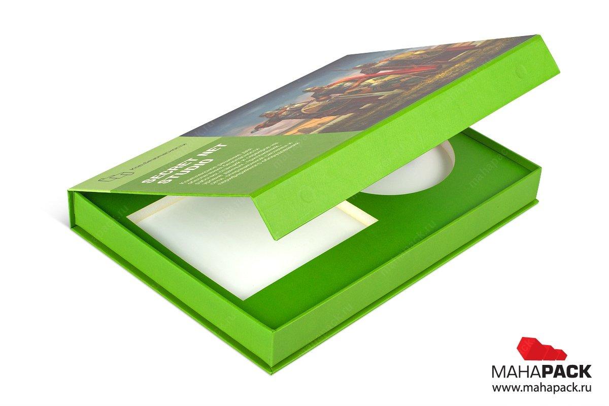 книга коробка для диска и буклета
