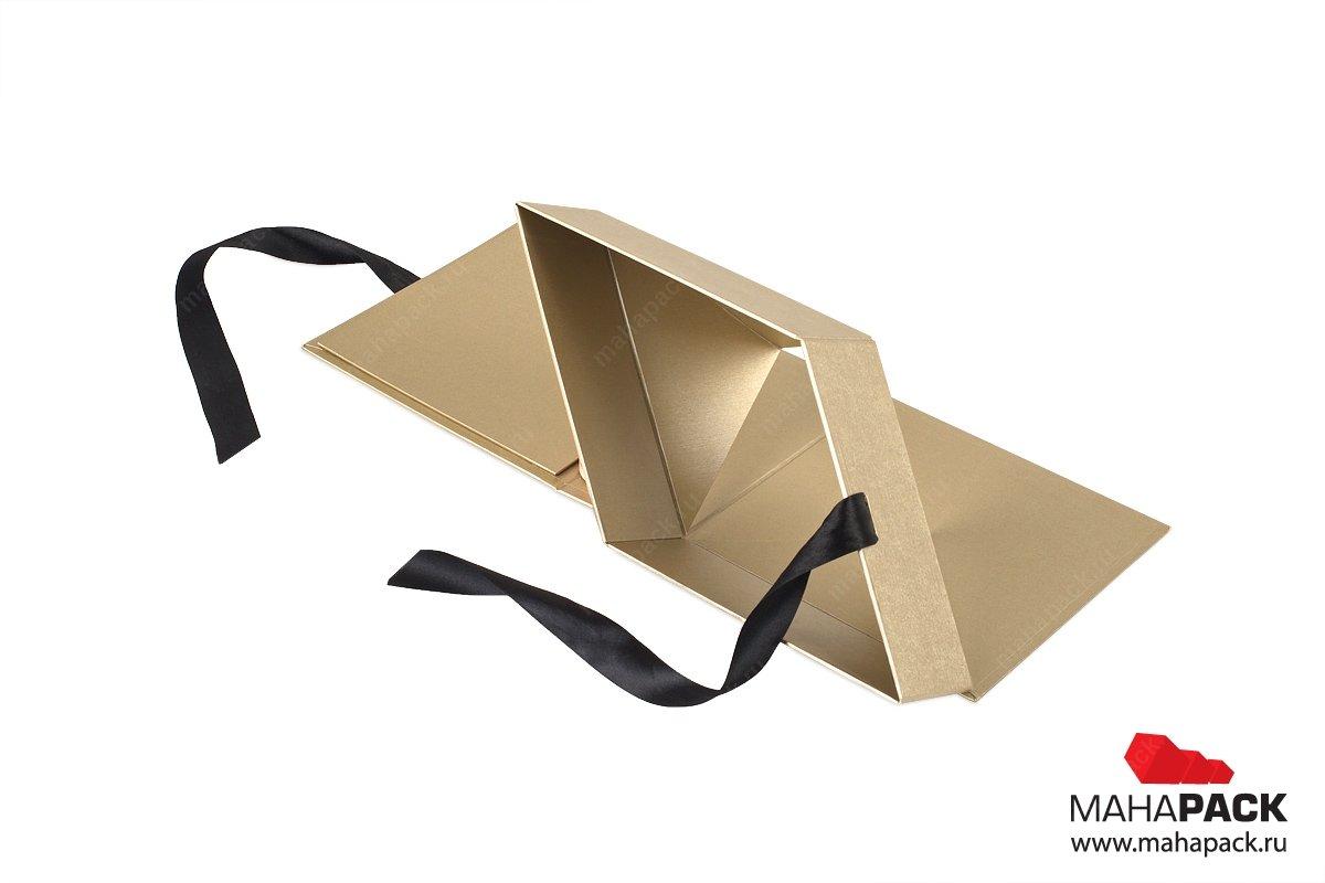 сувенирная упаковка с лентами складная