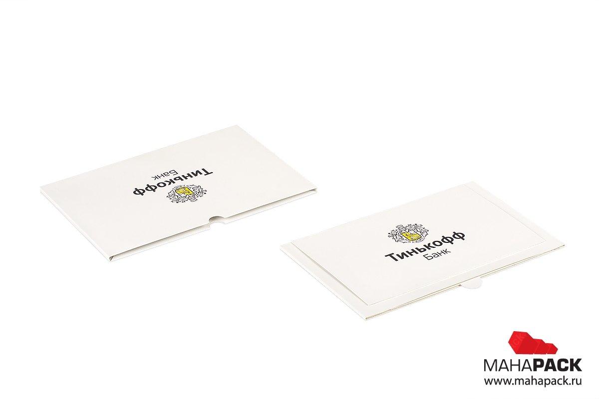 упаковка пластиковых карт для банка