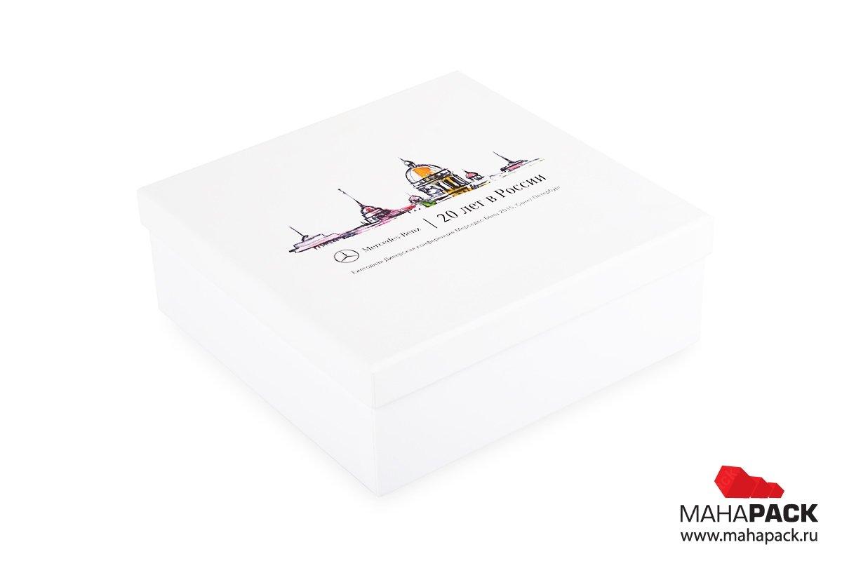 Подарочная коробка крышка-дно для сувенирного набора