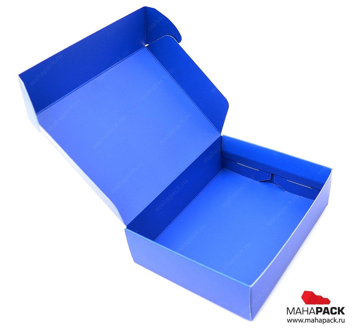 Картонная коробка с самозакрывающейся крышкой