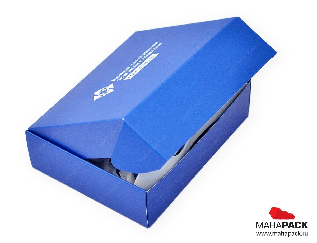 Самосборная картонная коробка с крышкой