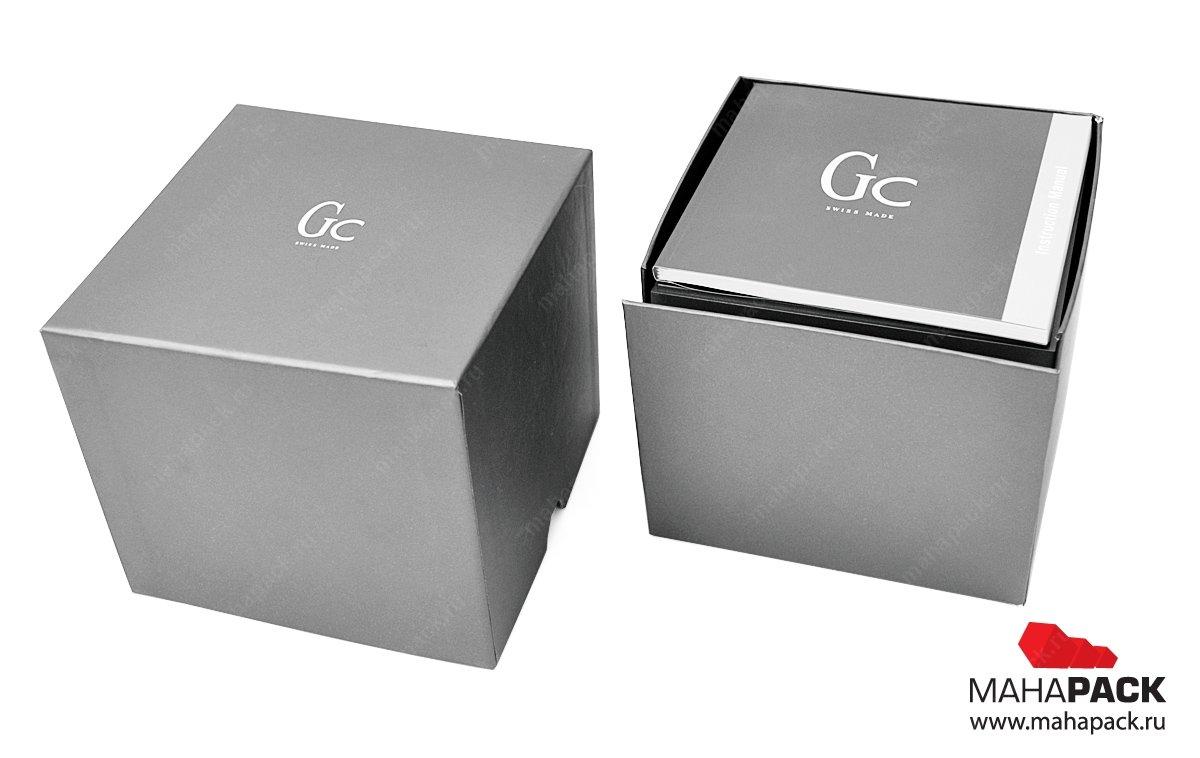 Подарочная коробка-куб с откидной стороной