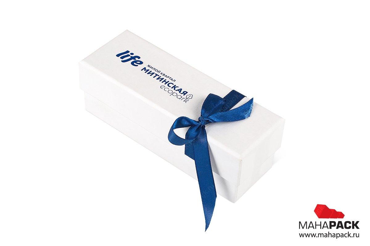 коробка подарочная с лентой - упаковка для ключа
