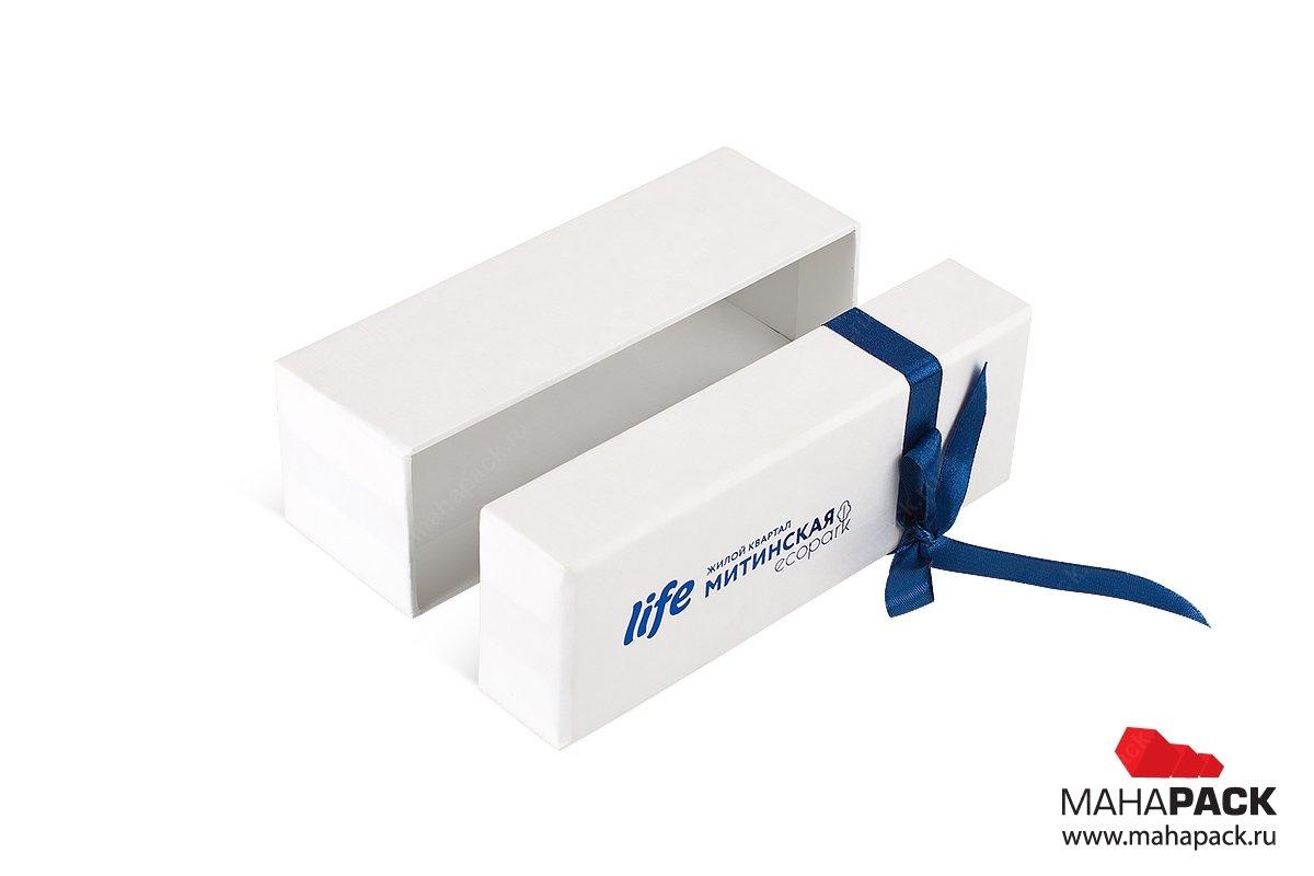 упаковка подарочная с лентой - коробка для ключа