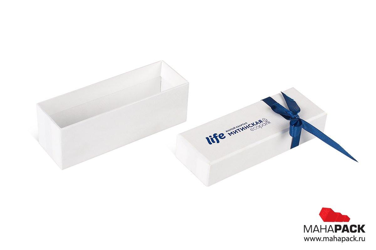 подарочная упаковка для ключей от квартиры - коробка с лентами