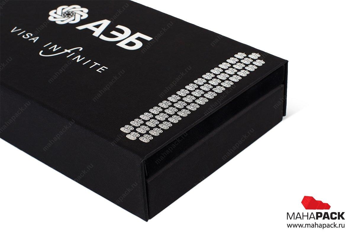 подарочные коробки из переплетного картона для банковской карты