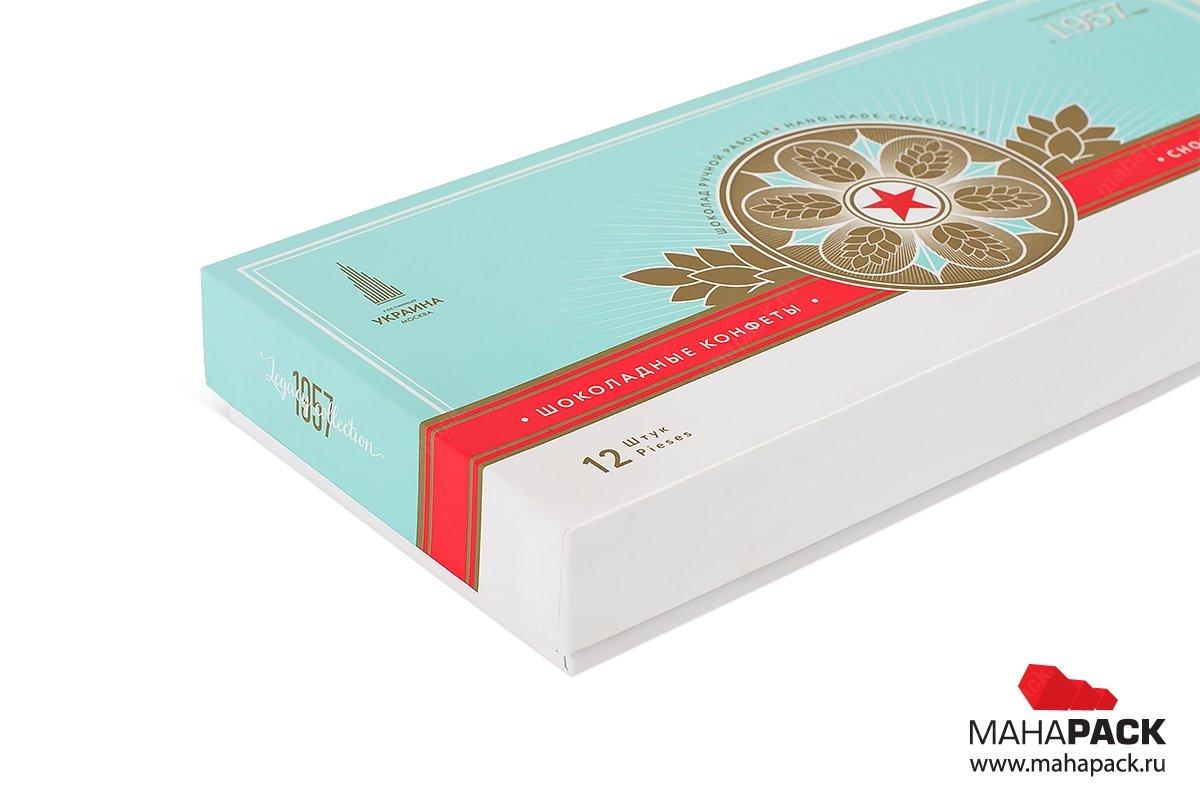 подарочная упаковка с логотипом, внутри шоколадка