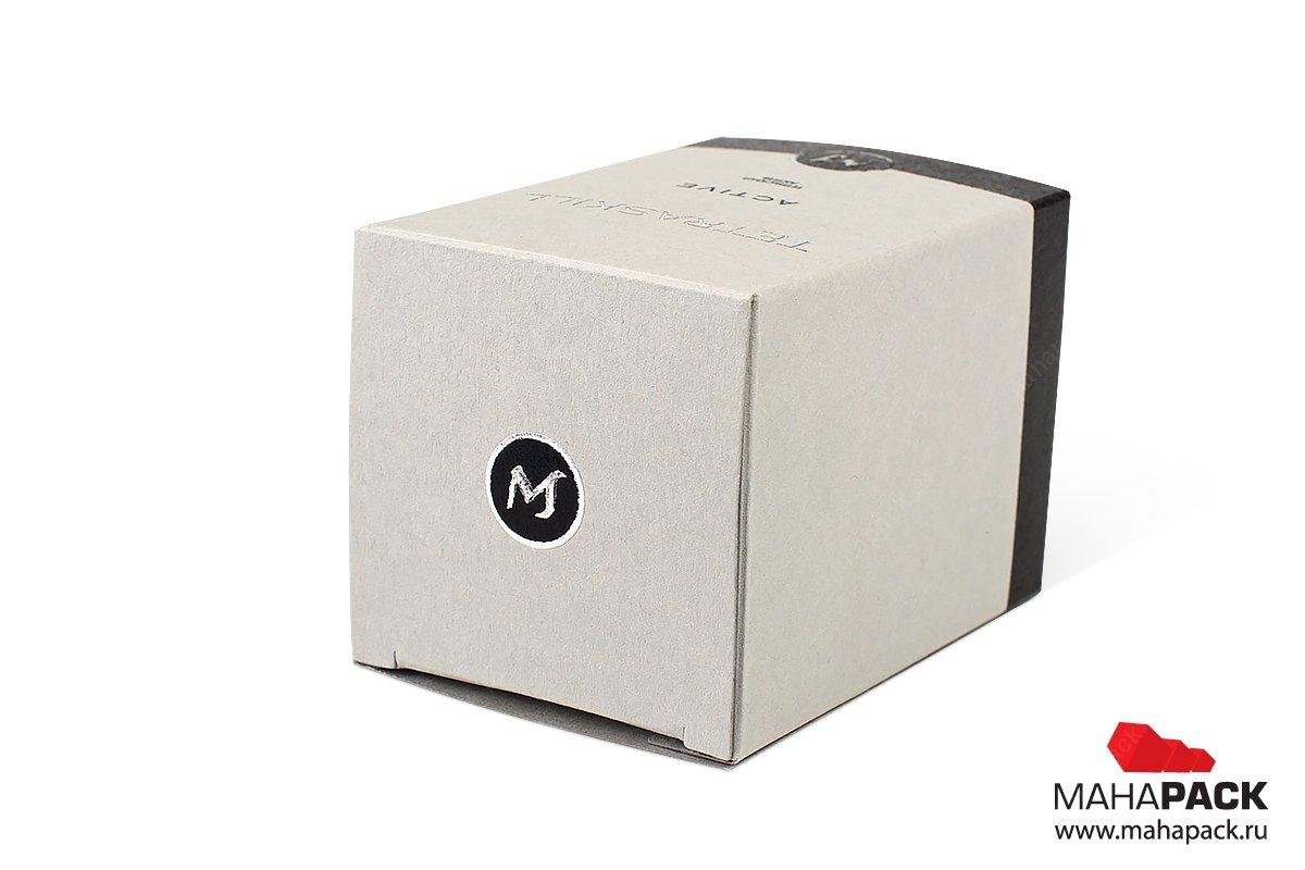 картонная упаковка с логотипом вашей компании