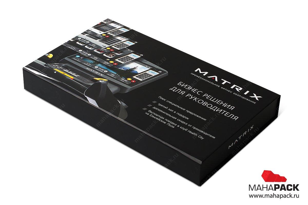 бизнес-упаковка - кашированная коробка с клапаном на магните