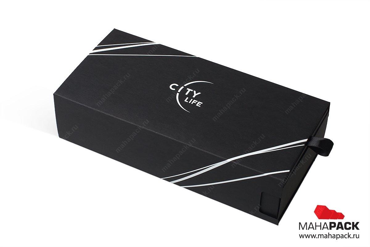 картонная подарочная упаковка - слайдербокс