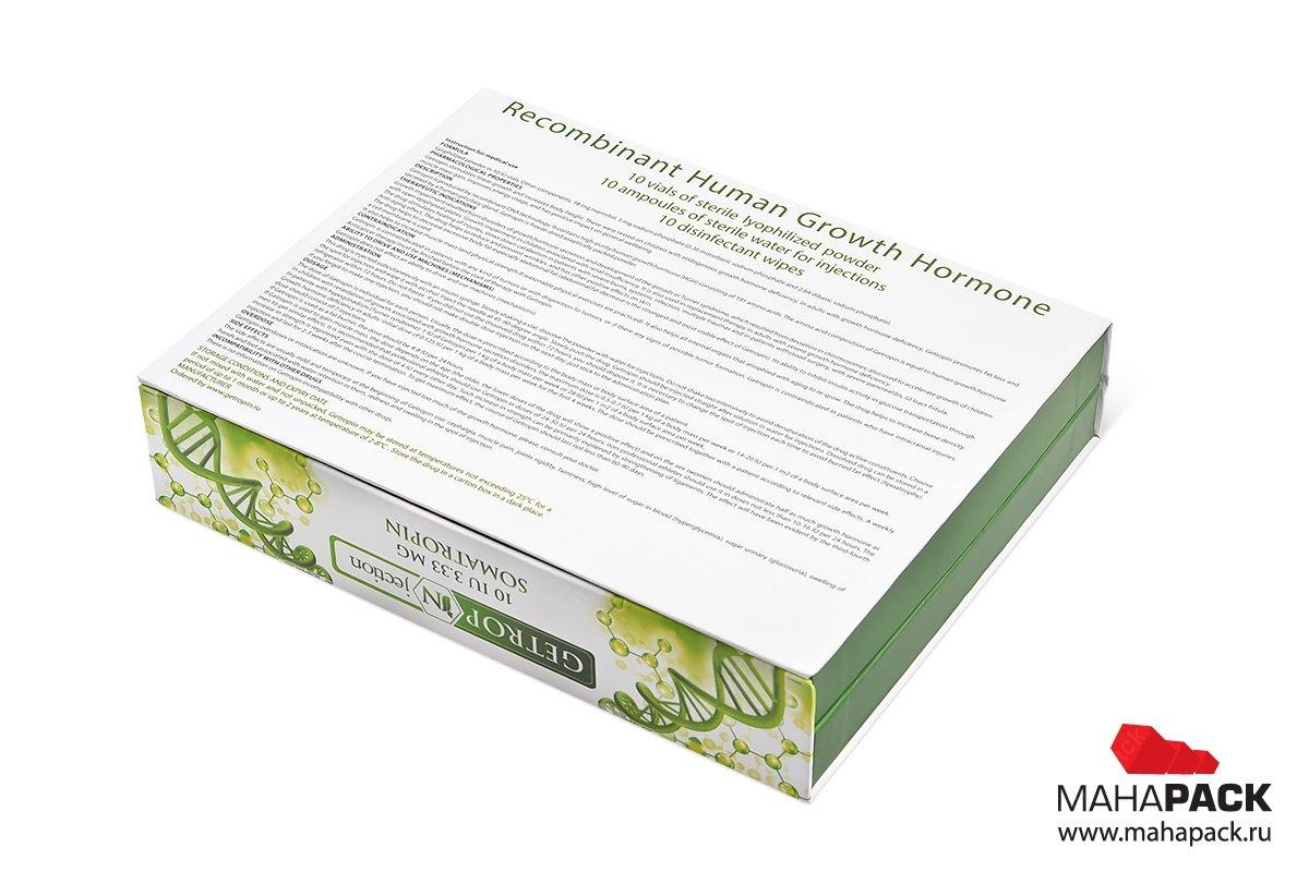 печать коробок для медикаментов