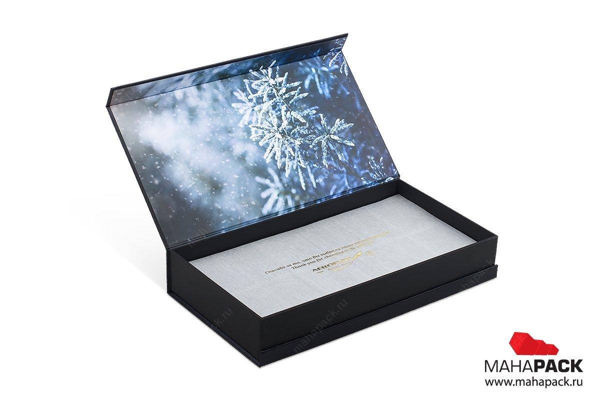 коробки с откидной крышкой для набора чая в подарок