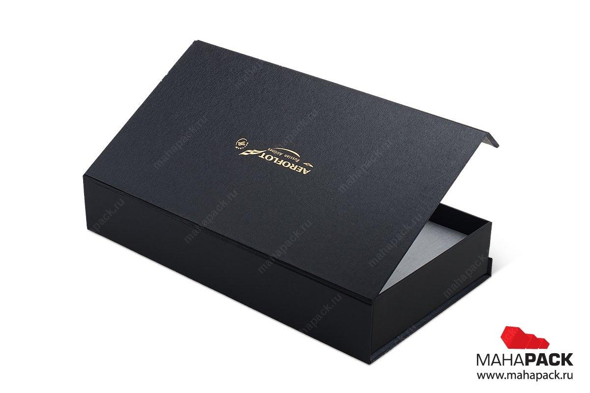 коробки для корпоративных подарков с золотым тиснением