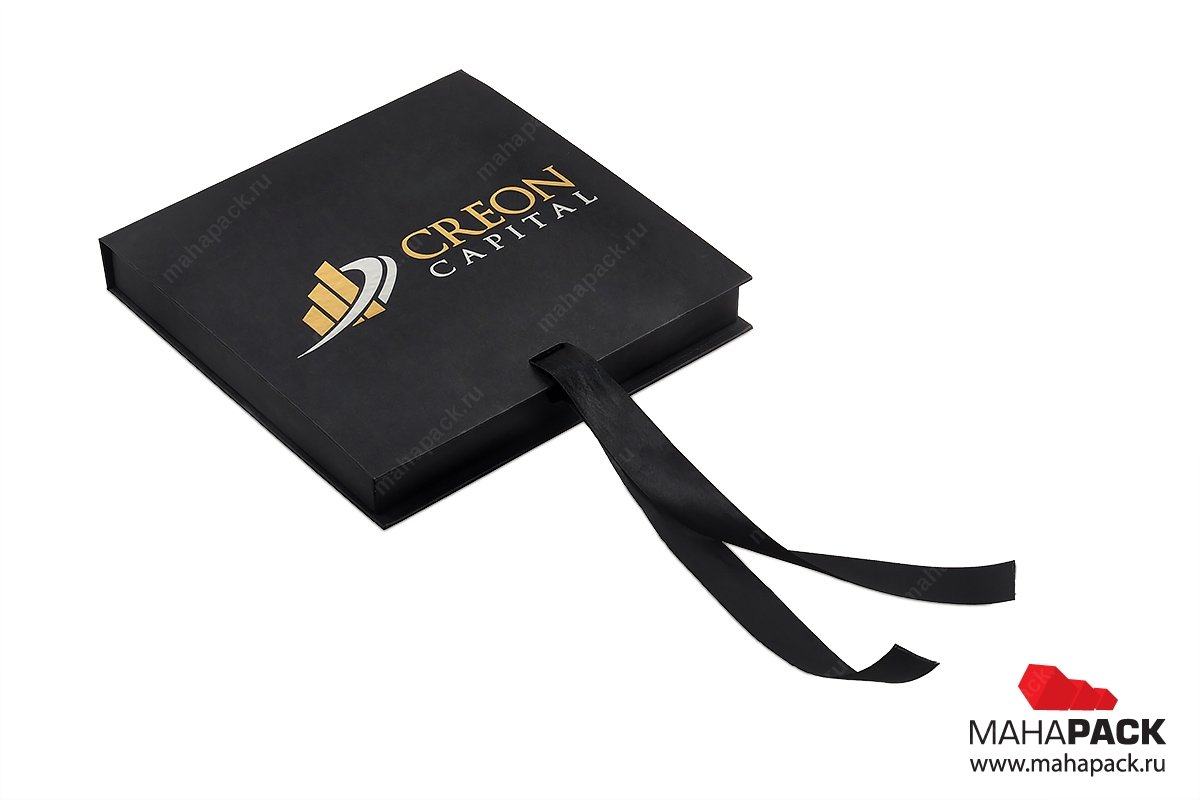 упаковка подарочная с атласными лентами