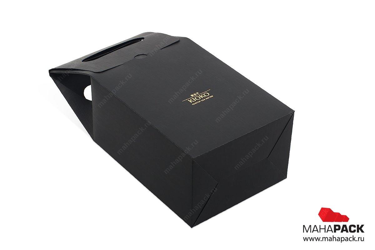 производство подарочных коробок-пакетов с логотипом для чая
