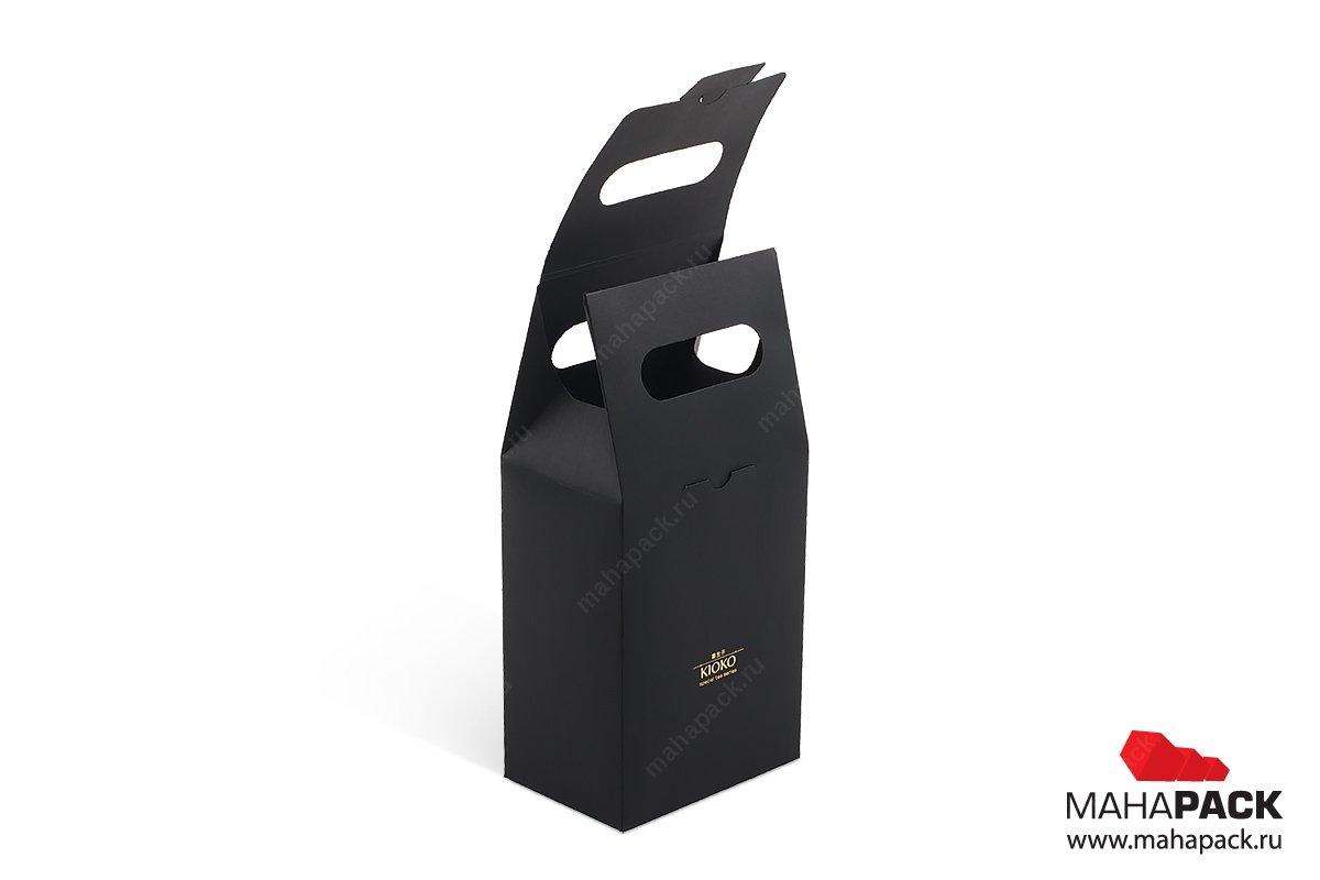 производство подарочных коробок-пакетов с логотипом на новый год