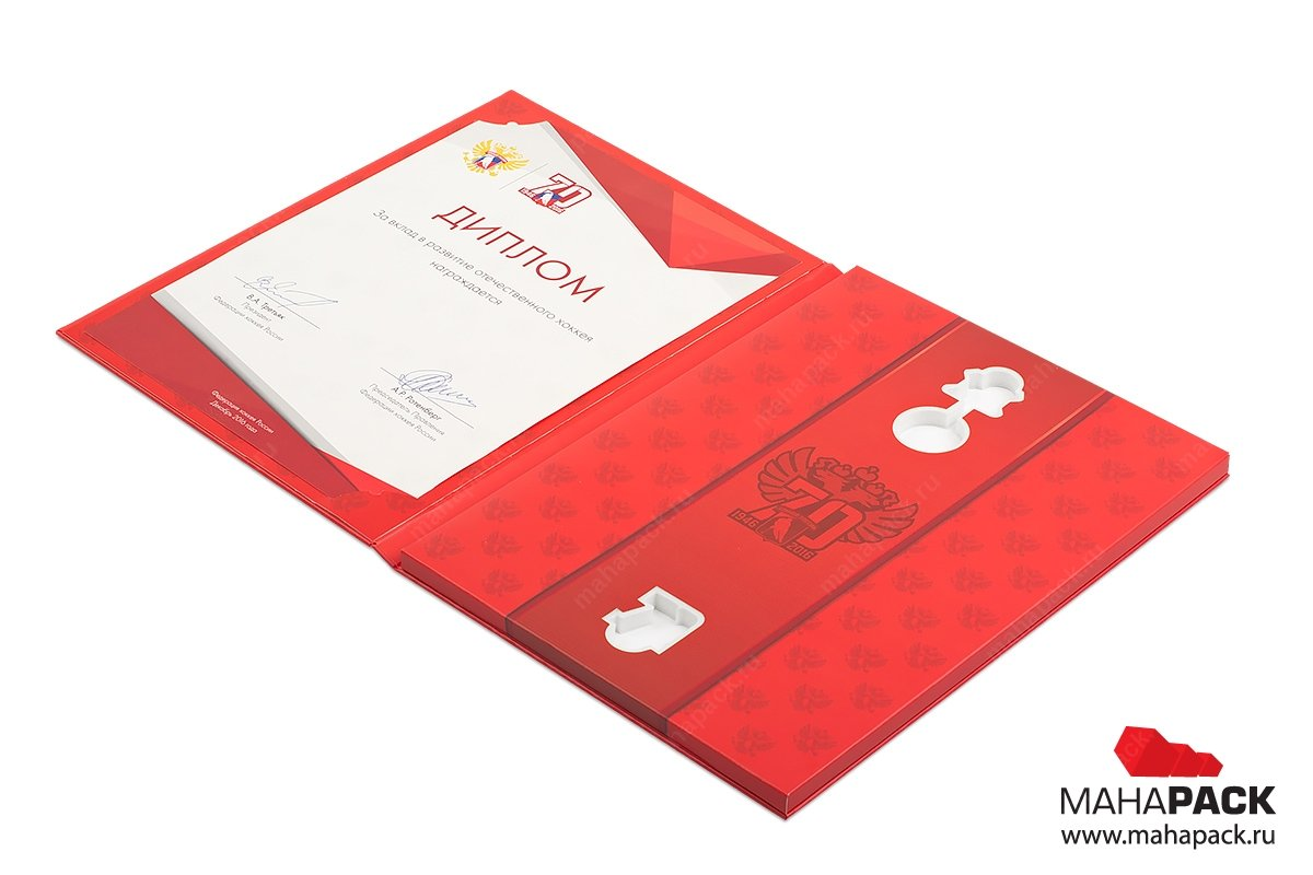 упаковка подарочная для медали