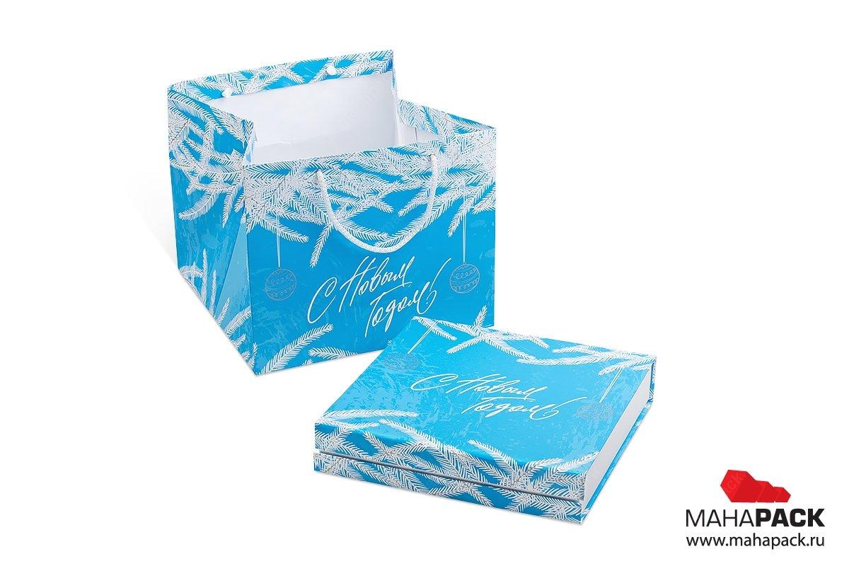 производство подарочных коробок с логотипом на новый год