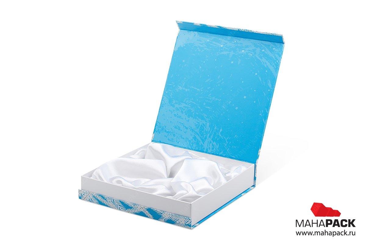 упаковка подарочного набора - ложемент с драпировкой тканью