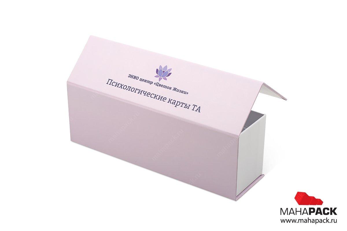 заказать упаковку с логотипом с клапаном на магните