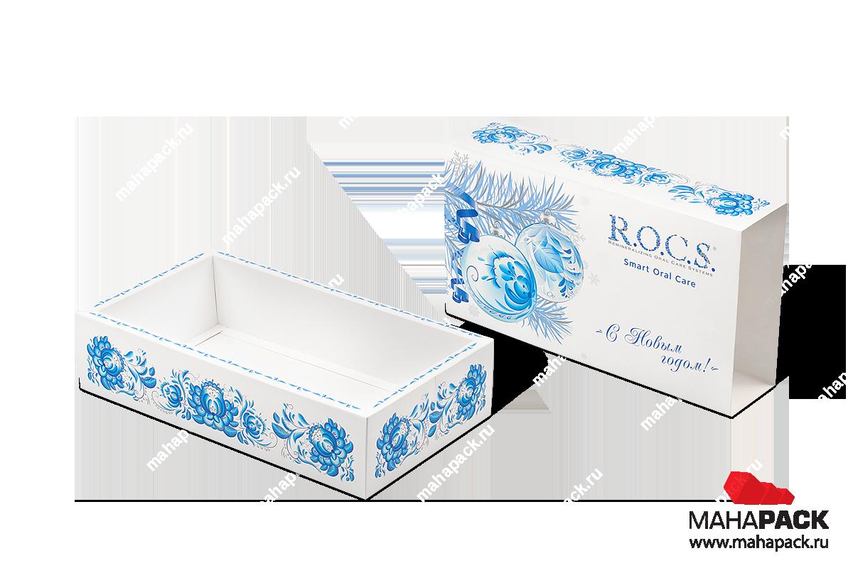 картонная упаковка с логотипом - коробка-пенал