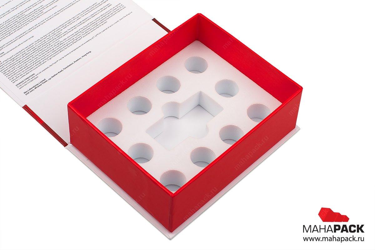 коробки с откидной крышкой и эва ложементом