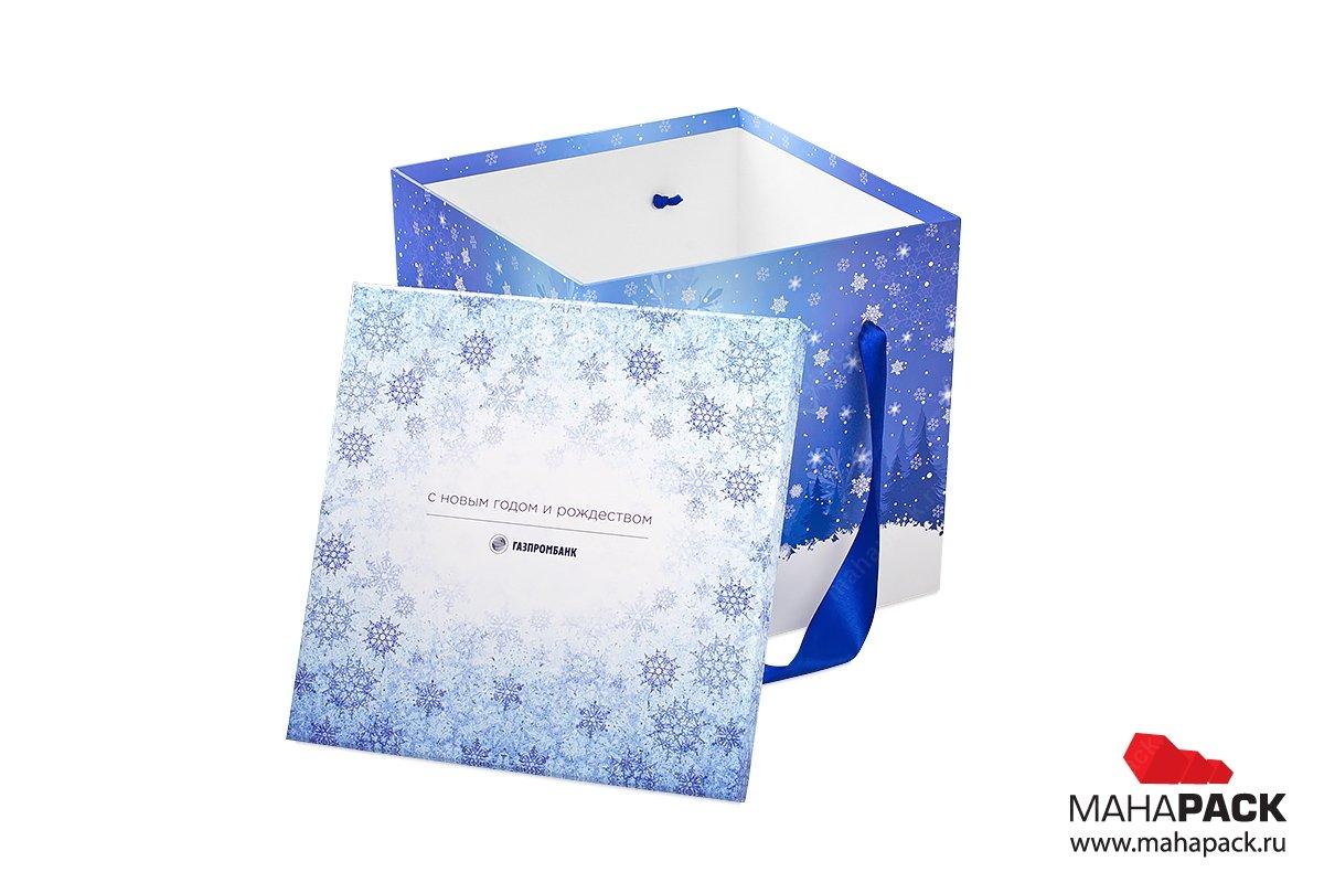 большая коробка с ручкой для подарков