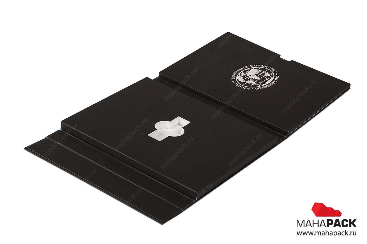 подарочная упаковка для флешек с буклетом