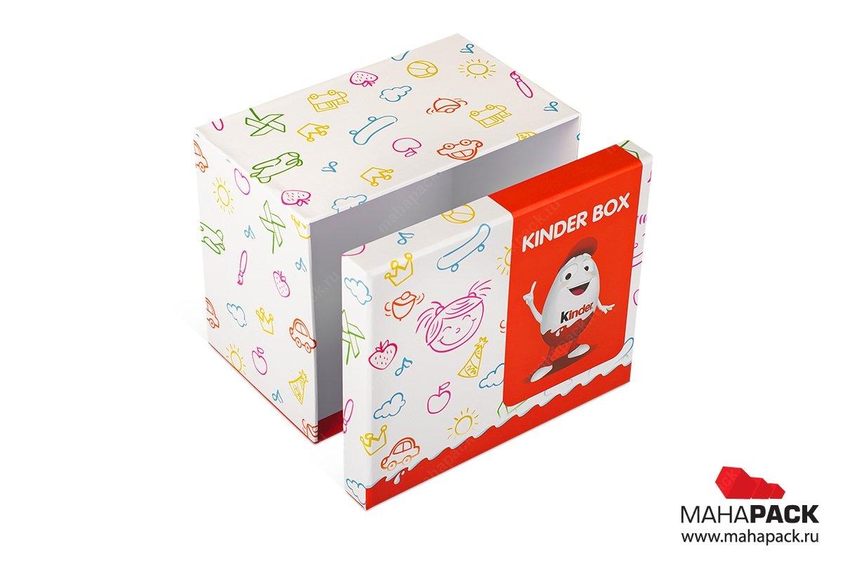 кашированные коробки крышка-дно для подарков