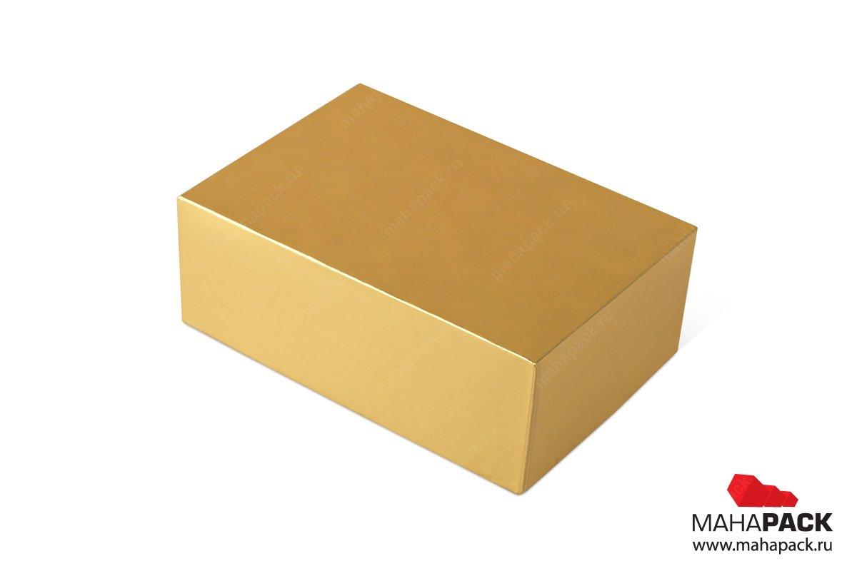 подарочная коробка - упаковка с металлизацией