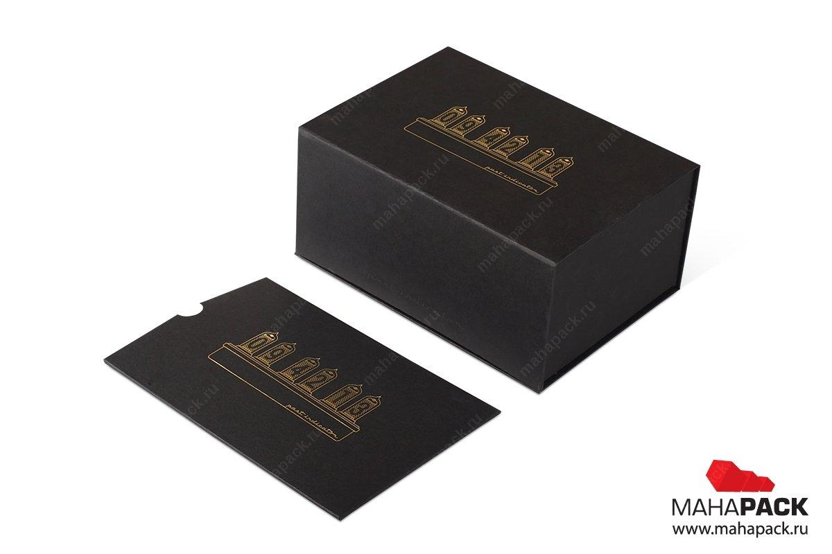 подарочная ювелирная упаковка с буклетом для часов