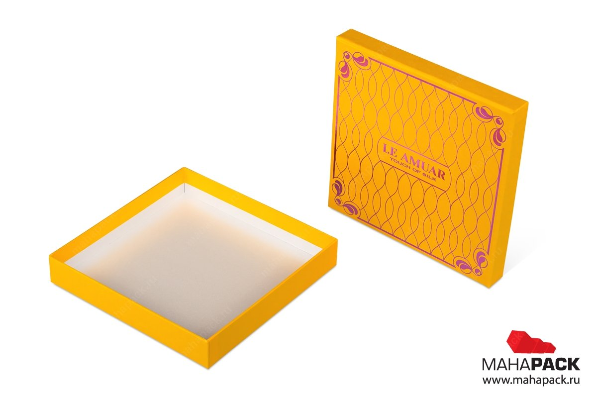 разработка фирменной упаковки - коробка крышка-дно