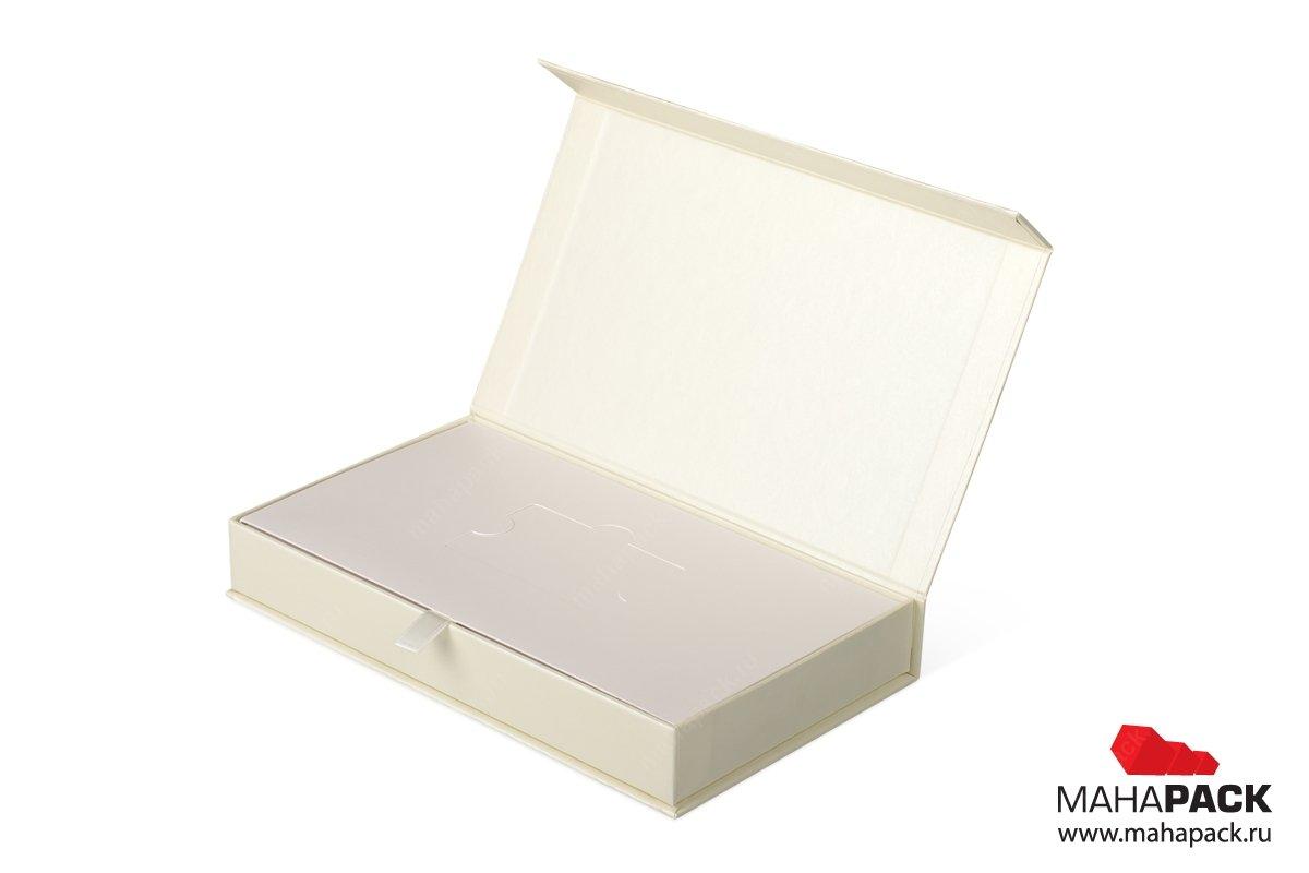 изготовление подарочной упаковки с клапаном на магните