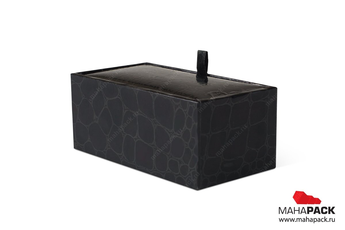 Коробка крышка-дно под кожу для ювелирных украшений