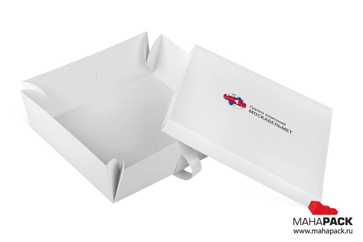 изготовление подарочной коробки с крышкой и лентами