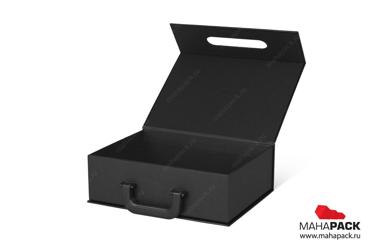 Коробка чемодан с навесной ручкой