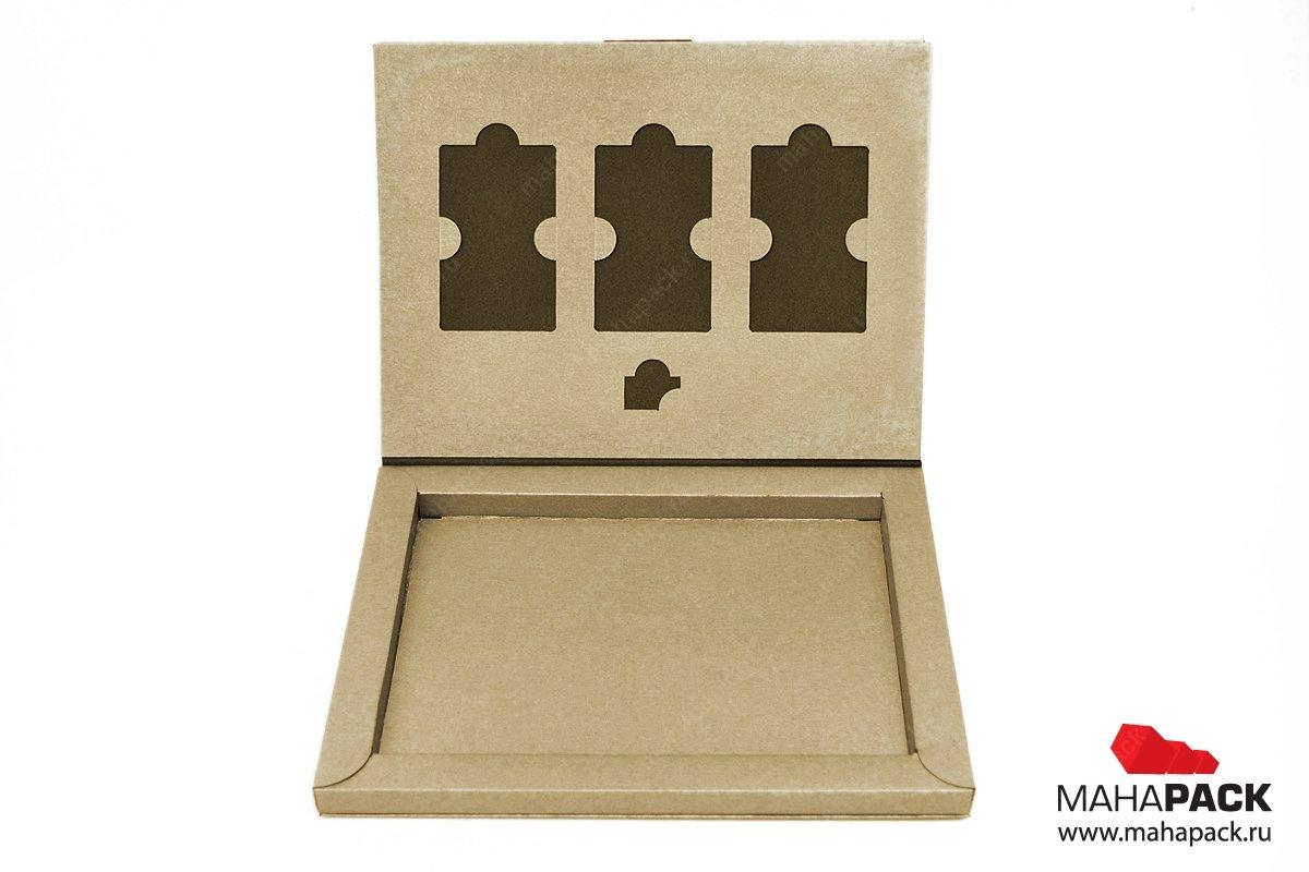 Индивидуальная упаковка-книжка для 4х пластиковых карт