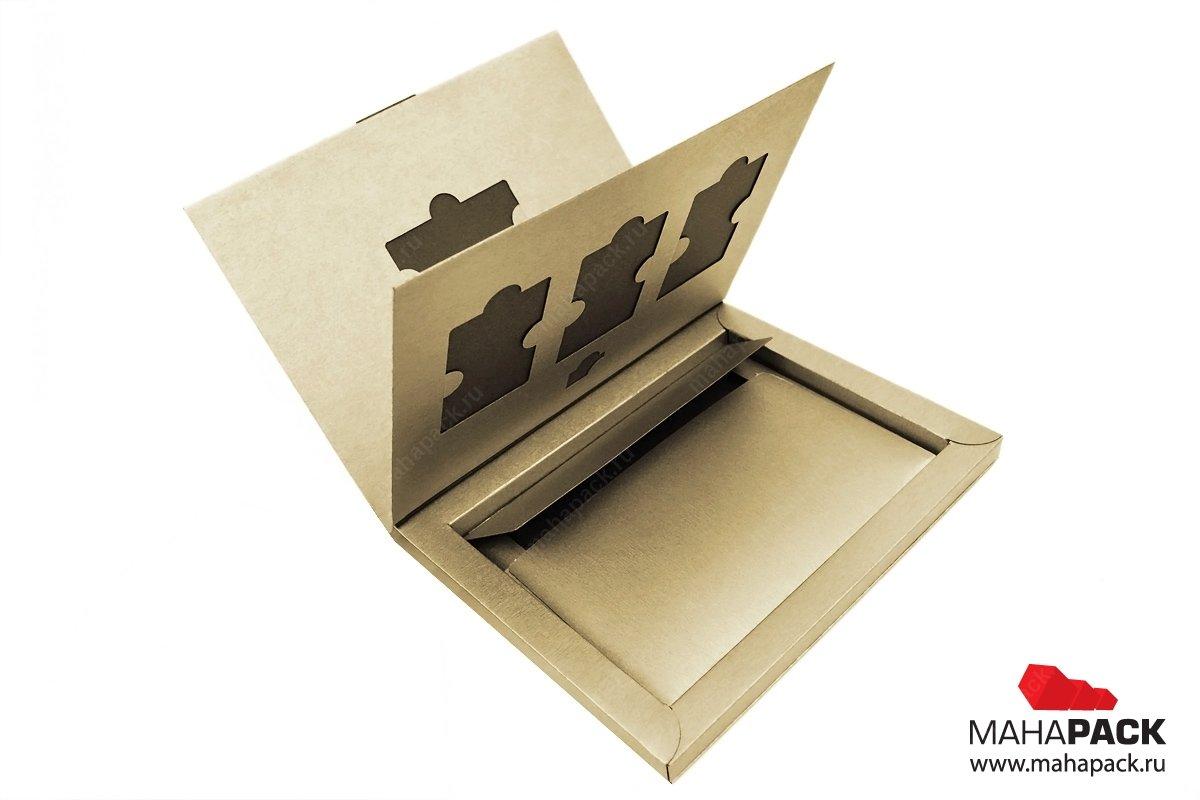Эксклюзивная упаковка-книжка для 4х пластиковых карт, SIM-карты и буклета