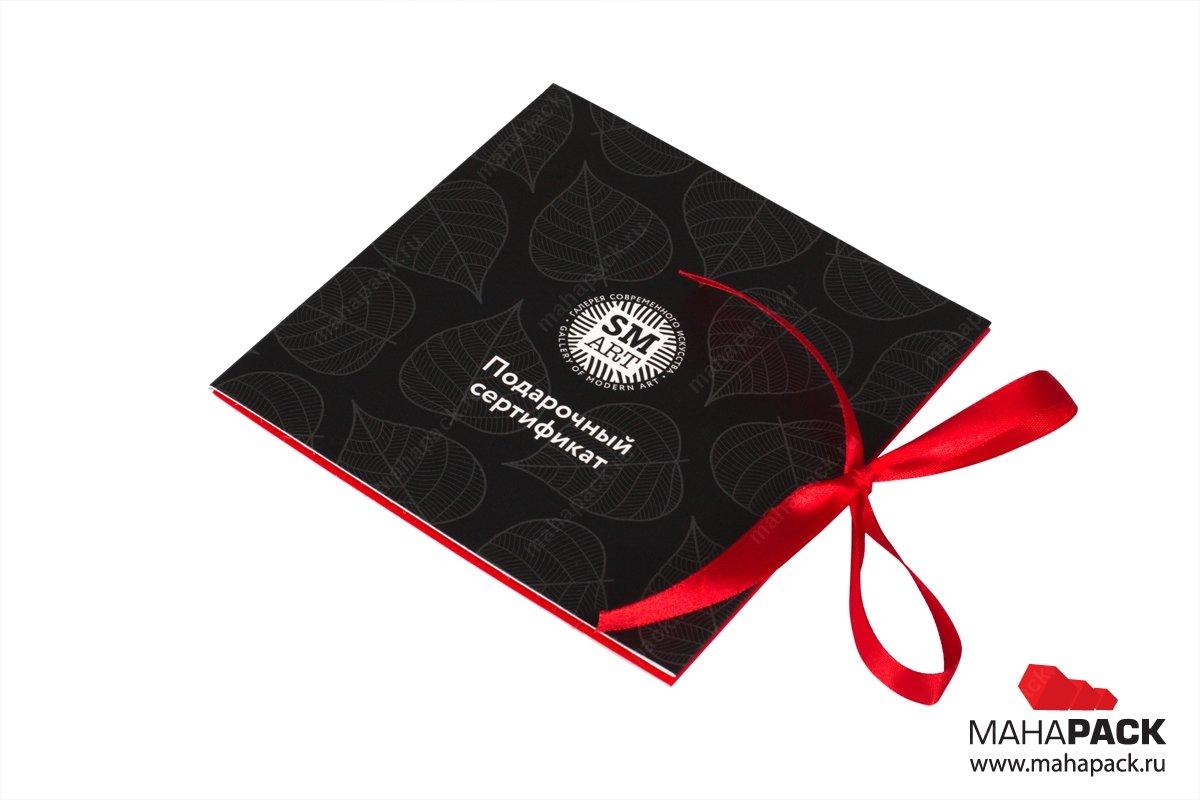 коробки из дизайнерского картона премиум класса с атласными лентами