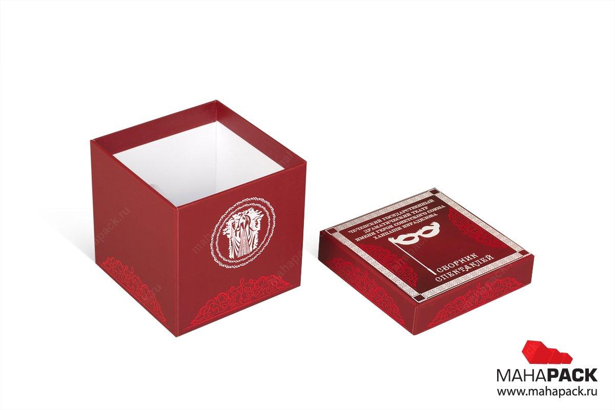 подарочные коробки с крышкой - изготовление