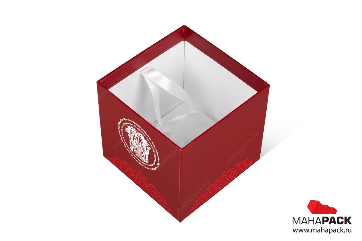 подарочные коробки с лентой - изготовление большим тиражом