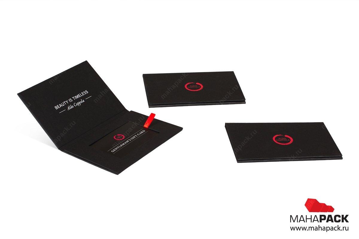 упаковка для пластиковой карты с лентами