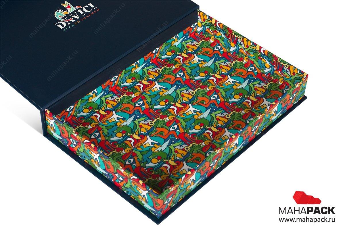 коробка с клапаном на магните - разработка дизайна и изготовление